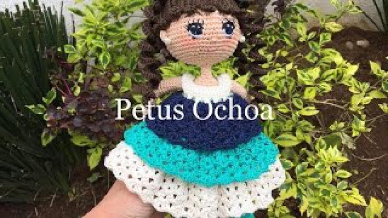 Como tejer pelo amigurumi para muñeca Alexa By Petus CUARTA PARTE