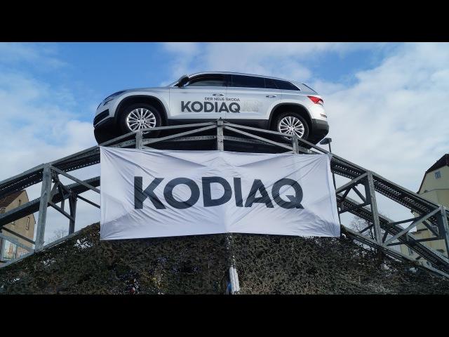 Onlinemotor Skoda KODIAQ OFFROAD Parcour Geländewagenparcour Skoda Centrum Düsseldorf