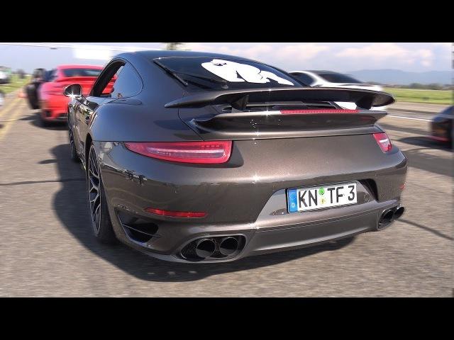 Porsche 991 Turbo S w/ Fi Exhaust! REVS DRAG RACE!