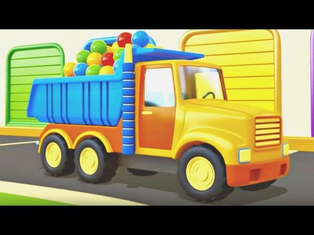 Eğiticiçizgifilmi Acil durum Araçları 4. bölüm kamyon, beton mikser, itfaiye, tasiyici.