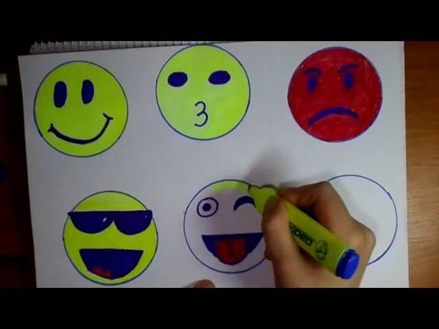 Cum sa desen emotii pas cu pas,how to step by step drawing emotions