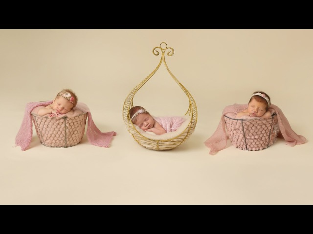 Triplet Newborn Girls with their siblings photographed by Ana Brandt