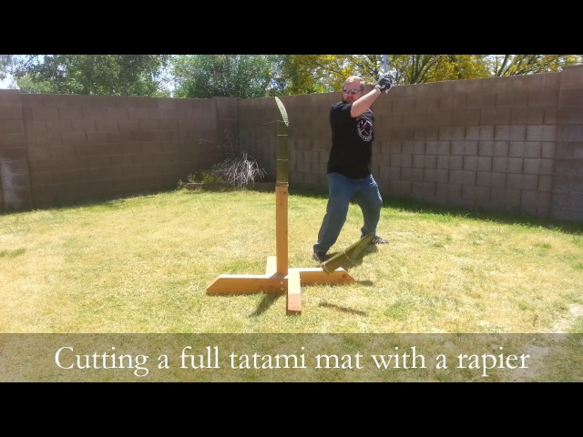 April Challenge - Cutting tatami with a Rapier