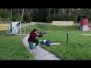 Первые попытки стрельбы в движении и с перебежками (по двум мишеням).