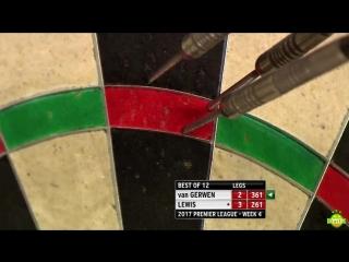 2017 Betway Premier League darts Michael van Gerwen v Adrian Lewis - Week 4