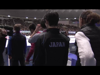 NHK Trophy 2016. Men - Free Skating. Warm-Up Group 1