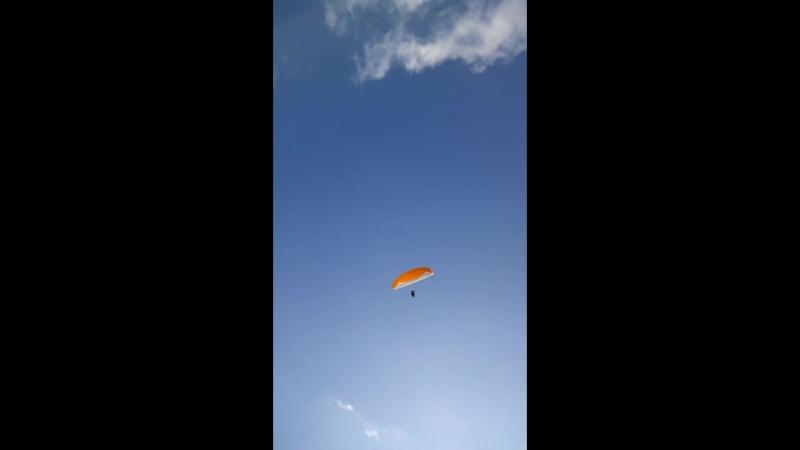 Парамотор Крыло ветра. Устоявшийся полет.