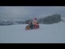 Спортбайк Honda RC213V по снегу