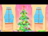 Синий Трактор - Дед Мороз (Развивающая детская песенка мультик для малышей про Новый Год)