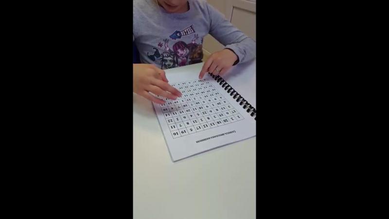 Школа IQ007: Скорость зрительного восприятия. Аня, 10 лет
