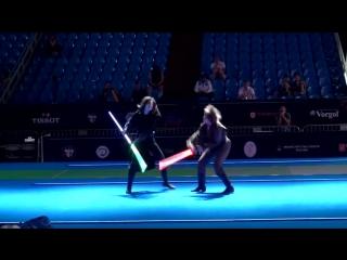 Поединок в стиле Звездных войн на Чемпионате мира по фехтованию