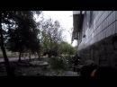 Донецк. Зачистка аэропорта. Работает зенитная установка ЗУ-23. Сентябрь 2014