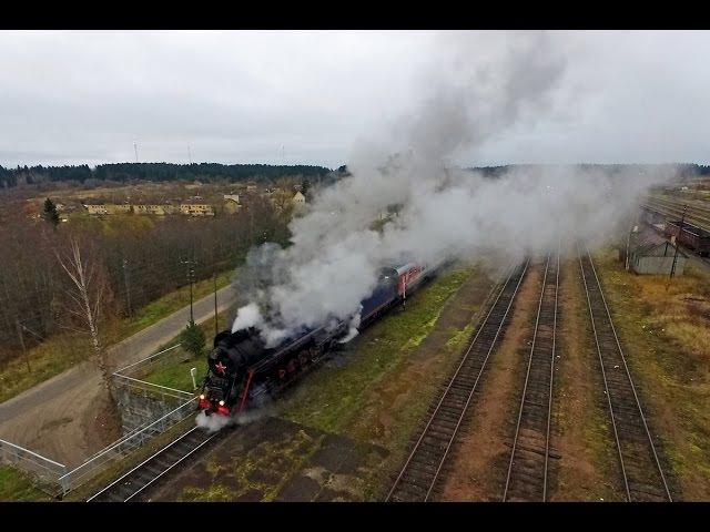 In the Air! Паровоз ЛВ-0522 (Элисенваара, Сортавала) / LV-0522 steam locomotive (RZD)