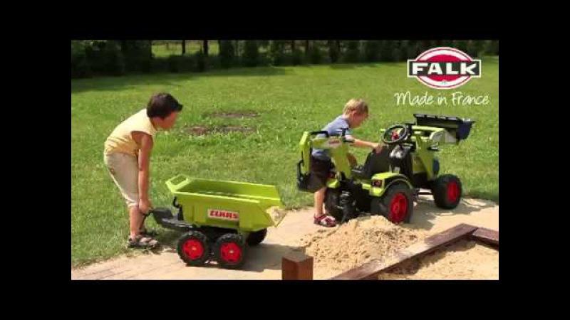 Велотрактор детский Country с прицепом и двумя ковшами, FALK