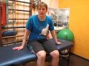 Травма ноги и контрактура колена Четырехглавая мышца бедра и зажимы в ней Leg injury