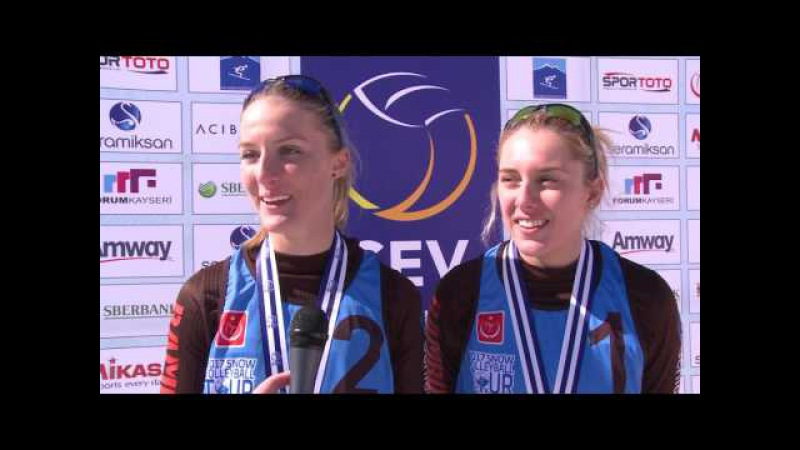 2017 CEV Snow Volleyball European Tour - Erciyes (TUR) Winners statment - Women