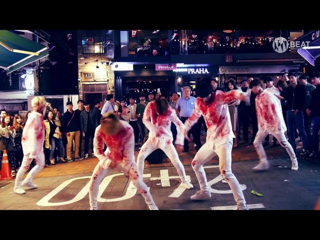 에이스 A C E ZOMBIE Dance Busking in Itaewon