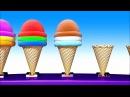 Учим Цвета и Цифры с Мороженым Развивающий Мультик для Детей и Песенки