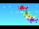 Мультик Про Самолет и Супергероев Киндер Сюрприз Для Детей Маквин Диноко Халк и Губка Боб