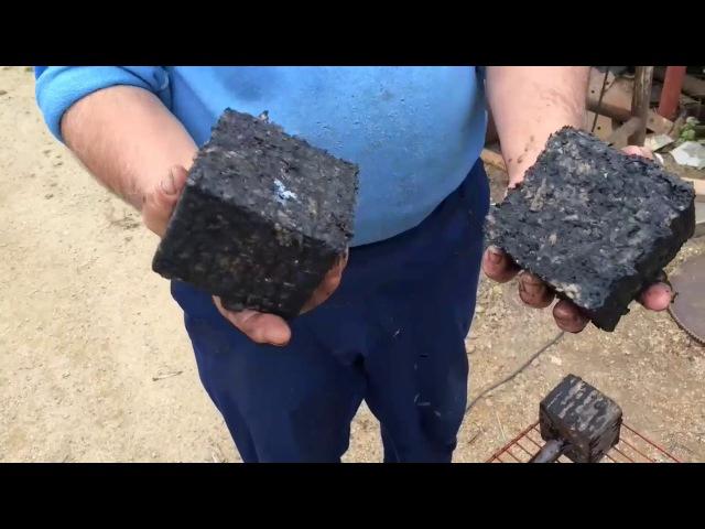 Изготовление брикетов из угольной пыли опилок стружки и листьев