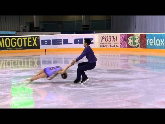 3 Madeline AARON / Max SETTLAGE (USA) - ISU JGP Minsk 2013 Junior Pairs Short Program