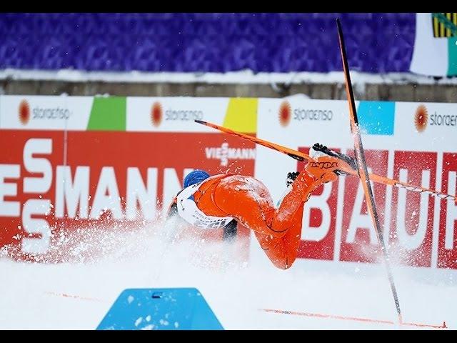 Адриан Солано - Худший лыжник в истории, падения Adrian Solano - worst cross country skier ever