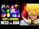 100 COMBO w33 Invoker vs ANA ES Dota 2 Patch 7.00 Gameplay