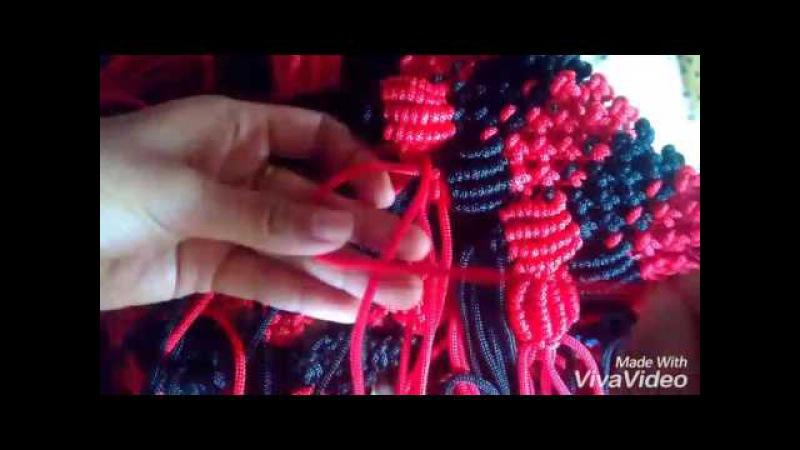 Tutorial rajut tas bahan tali kur, motif jagung bagian 4