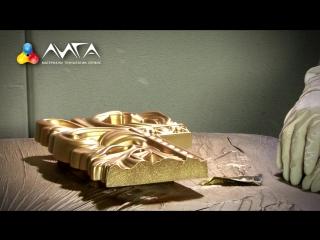 100. Старинное золото с глянцем на  декоре из пенополиуретана