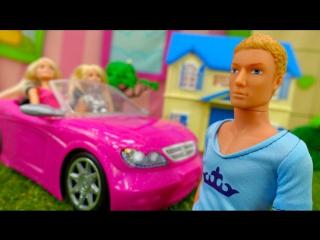 Кукла БАРБИ. Мультики с игрушками для девочек. Сломанная машина барби.