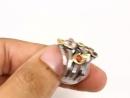 Аметист, хризолит, сапфир, гранат, топаз, серебро925, покрытие черный родий и желтое золото585.