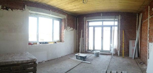 Ремонт коттеджа 250 м2,фото ремонта зала