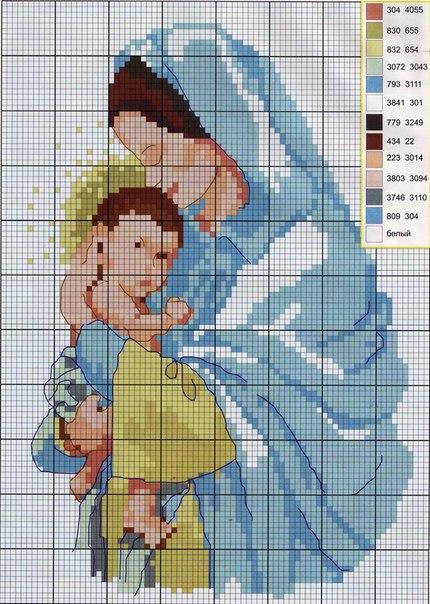 вышиваем детям крестом схемы