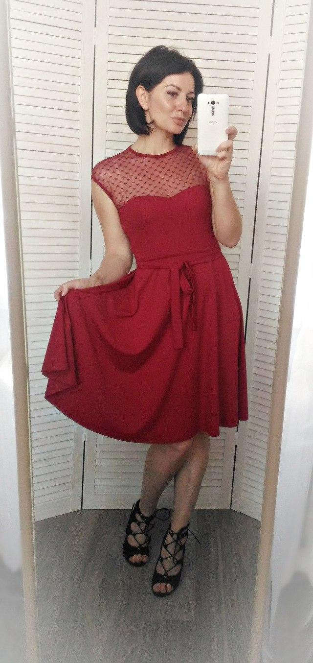 Обзор на платье в благородном бордовом цвете из магазина Blooming