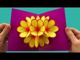 Basteln: Pop-Up Karten basteln mit Papier - DIY Geschenke: Bastelideen Ostern, Muttertag