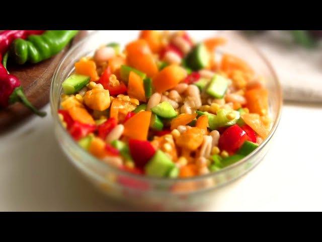 Легкий САЛАТ По - Мексикански / Быстрый простой рецепт » Freewka.com - Смотреть онлайн в хорощем качестве