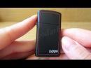 Зажигалка Zippo 1618ZB Slim Black Matte (Видео обзор) podarki-