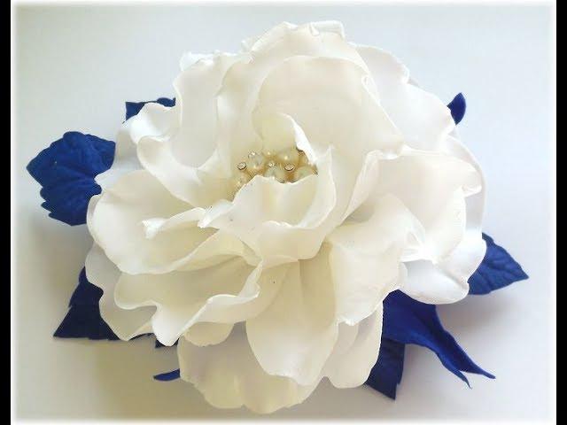 МК Простой способ создания красивого украшения с зефирного фоамирана.