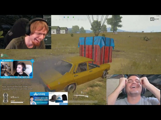 Lirik 1v4 With MG | Shroud Steals Airdrop With Car | WIN WITH NO GUNS - Best Of PUBG Streams 1