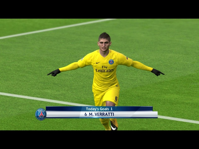 Anderlecht vs PSG / UEFA Champions League 2017 / Gameplay PES