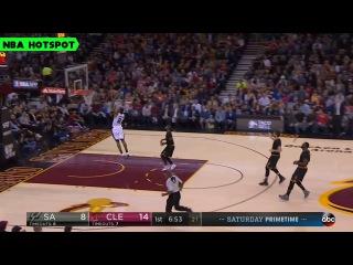 Kawhi Leonard Fast Break Slam DUNK | CAVS vs SPURS | Jan 21, 2017 | 16-17 NBA Season