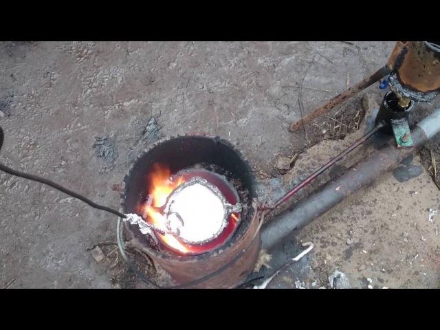 Плавлю алюминий Горн на отработке
