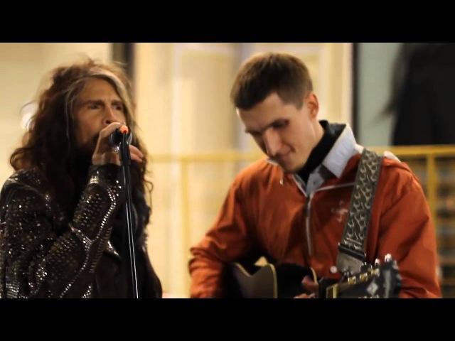 Aerosmith Steven Tyler Surprises Street Musician And Sings Along
