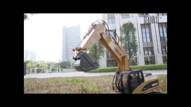 12 24 HUINA 1550 112 2 4GHz 15CH RC Alloy Excavator from Gearbest