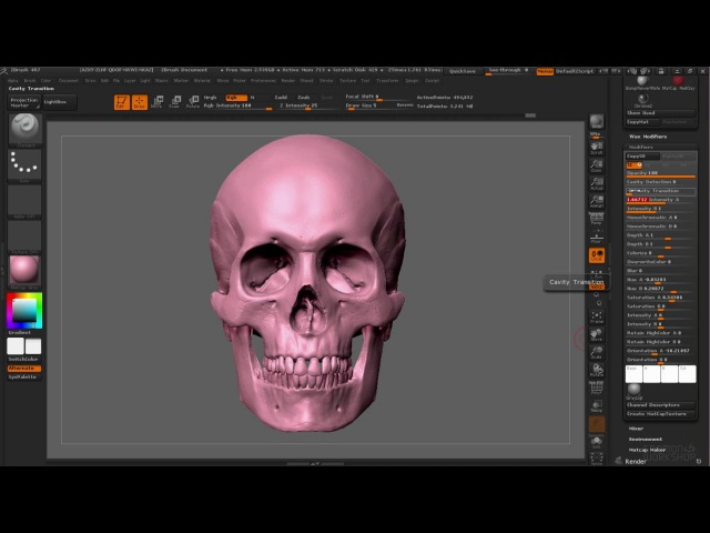 Уроки по ZBrush 4R7. Занятие 34. Material (материалы) | Аника