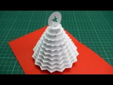 Christmas Tree Pop Up Card Tutorial - 02 (Part 1)