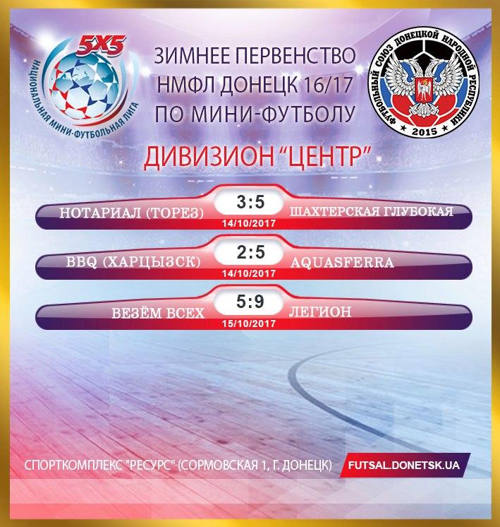 14 октября в Донецке стартовало Зимнее первенство Национальной-Мини-Футбольной Лиги