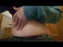 Chubby Girl Christmas Dinner Belly Play