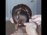 Шикарная причёска для юной леди