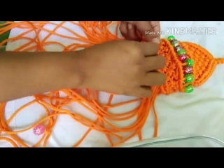 how to make ganapati with macrame